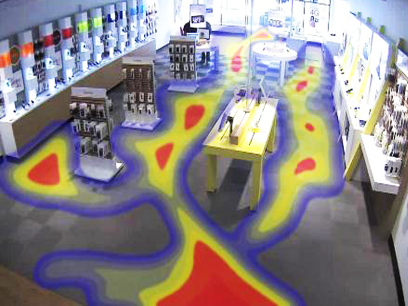 In Store Traffic Heat Map Video Analytics Toronto Seq Security Camera Systems Surveillance Cctv Toronto
